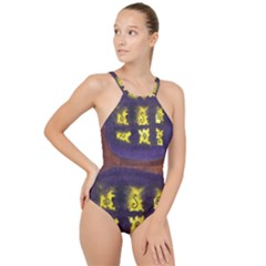 Boring Egg High Neck One Piece Swimsuit