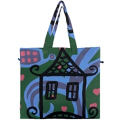 Smiling House Canvas Travel Bag
