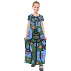 Babydoll Dress Kids  Short Sleeve Maxi Dress