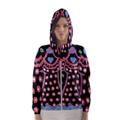Dress And Falling Leaves Hooded Windbreaker (women)