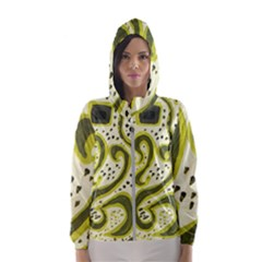 Yellow Swirls Hooded Windbreaker (women)