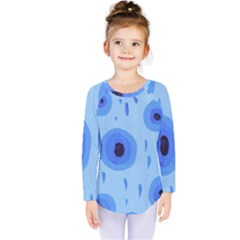 Blue Rain Kids  Long Sleeve Tee by snowwhitegirl