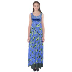 Raining Leaves Empire Waist Maxi Dress