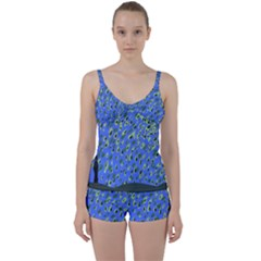 Raining Leaves Tie Front Two Piece Tankini