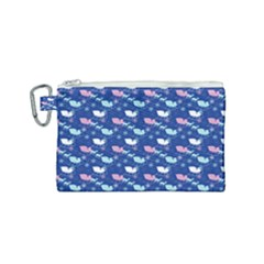 Snow Sleigh Deer Blue Canvas Cosmetic Bag (small) by snowwhitegirl