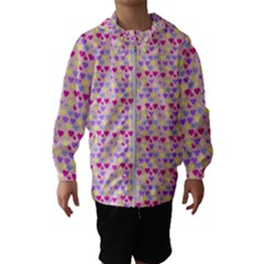 Hearts Butterflies Pink 1200 Hooded Windbreaker (kids) by snowwhitegirl