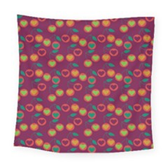 Heart Cherries Magenta Square Tapestry (large) by snowwhitegirl
