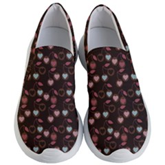 Heart Cherries Brown Women s Lightweight Slip Ons by snowwhitegirl