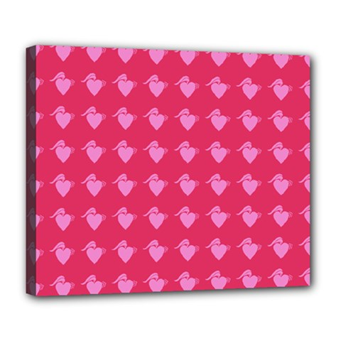 Punk Heart Pink Deluxe Canvas 24  X 20   by snowwhitegirl
