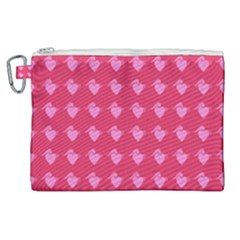 Punk Heart Pink Canvas Cosmetic Bag (xl) by snowwhitegirl