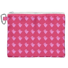 Punk Heart Pink Canvas Cosmetic Bag (xxl) by snowwhitegirl
