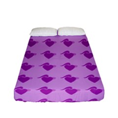 Punk Heart Violet Fitted Sheet (full/ Double Size)