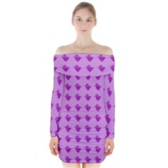 Punk Heart Violet Long Sleeve Off Shoulder Dress by snowwhitegirl