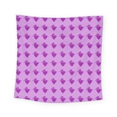 Punk Heart Violet Square Tapestry (small) by snowwhitegirl