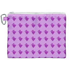 Punk Heart Violet Canvas Cosmetic Bag (xxl) by snowwhitegirl