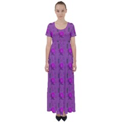 Punk Baby Violet High Waist Short Sleeve Maxi Dress