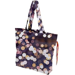 Bright Light Pattern Drawstring Tote Bag by FunnyCow