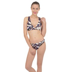 Bright Light Pattern Classic Banded Bikini Set  by FunnyCow