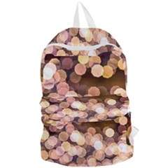 Warm Color Brown Light Pattern Foldable Lightweight Backpack by FunnyCow