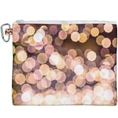 Warm Color Brown Light Pattern Canvas Cosmetic Bag (xxxl) by FunnyCow