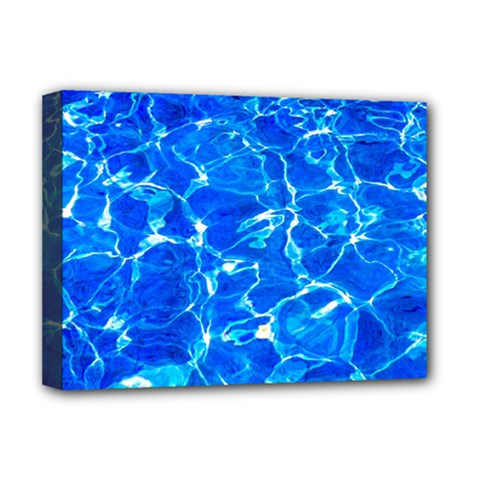 Blue Clear Water Texture Deluxe Canvas 16  X 12   by FunnyCow