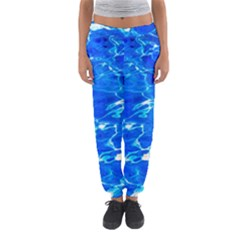 Blue Clear Water Texture Women s Jogger Sweatpants by FunnyCow