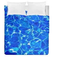Blue Clear Water Texture Duvet Cover Double Side (queen Size) by FunnyCow