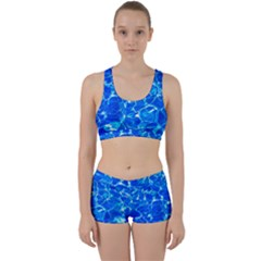 Blue Clear Water Texture Work It Out Gym Set by FunnyCow