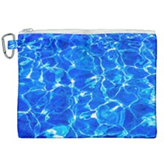 Blue Clear Water Texture Canvas Cosmetic Bag (xxl) by FunnyCow