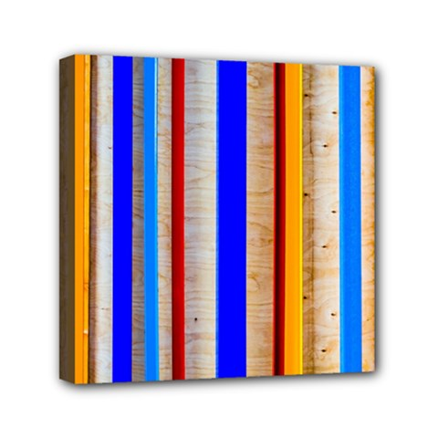 Colorful Wood And Metal Pattern Mini Canvas 6  X 6  by FunnyCow