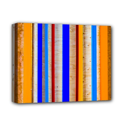 Colorful Wood And Metal Pattern Deluxe Canvas 14  X 11  by FunnyCow