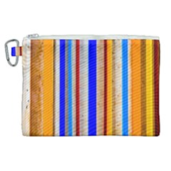 Colorful Wood And Metal Pattern Canvas Cosmetic Bag (xl) by FunnyCow