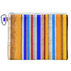 Colorful Wood And Metal Pattern Canvas Cosmetic Bag (xxl) by FunnyCow