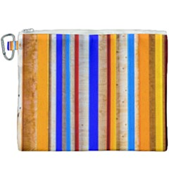 Colorful Wood And Metal Pattern Canvas Cosmetic Bag (xxxl) by FunnyCow