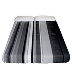 Shades Of Grey Wood And Metal Fitted Sheet (california King Size) by FunnyCow
