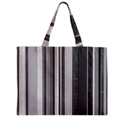Shades Of Grey Wood And Metal Zipper Medium Tote Bag by FunnyCow