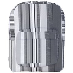 Shades Of Grey Wood And Metal Full Print Backpack by FunnyCow
