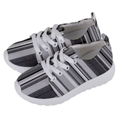 Shades Of Grey Wood And Metal Kids  Lightweight Sports Shoes by FunnyCow