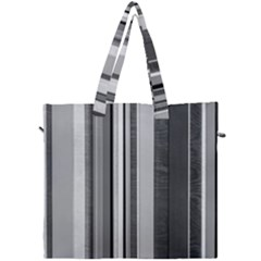 Shades Of Grey Wood And Metal Canvas Travel Bag by FunnyCow