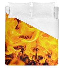 Fire And Flames Duvet Cover (queen Size) by FunnyCow