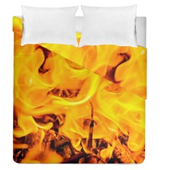 Fire And Flames Duvet Cover Double Side (queen Size) by FunnyCow