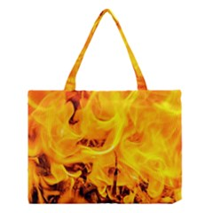 Fire And Flames Medium Tote Bag by FunnyCow