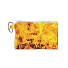 Fire And Flames Canvas Cosmetic Bag (small) by FunnyCow