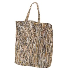 Dry Hay Texture Giant Grocery Tote by FunnyCow