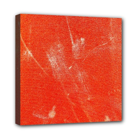 Grunge Red Tarpaulin Texture Mini Canvas 8  X 8  by FunnyCow