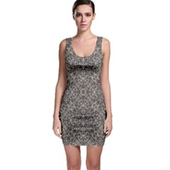 Luxury Modern Baroque Pattern Bodycon Dress by dflcprints