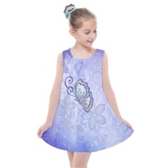 Wonderful Butterlies With Flowers Kids  Summer Dress by FantasyWorld7