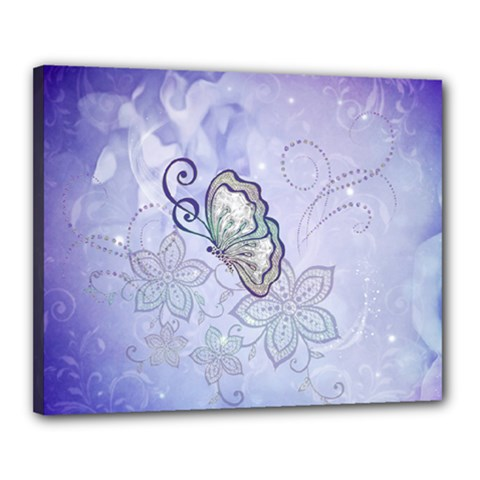 Wonderful Butterlies With Flowers Canvas 20  X 16  by FantasyWorld7
