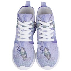 Wonderful Butterlies With Flowers Women s Lightweight High Top Sneakers by FantasyWorld7