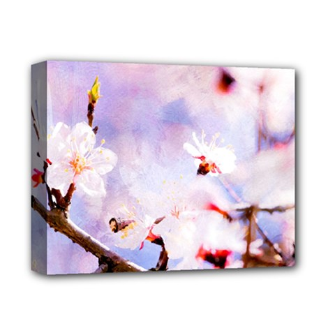 Pink Sakura Purple Background Deluxe Canvas 14  X 11  by FunnyCow
